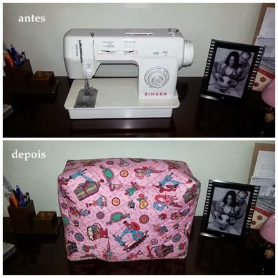 ideia para capa de máquina de costura