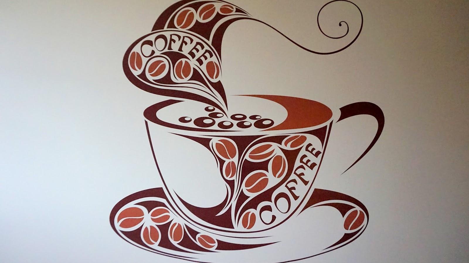 d775effa828e3a Firma Tenstickers ma bardzo szeroką gamę projektów naklejek na ścianę.  Sporo czasu zajęło mi znalezienie tej odpowiedniej, w końcu padło na  filiżankę z kawą ...