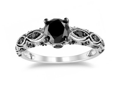 Black Diamond Wedding Band Womens