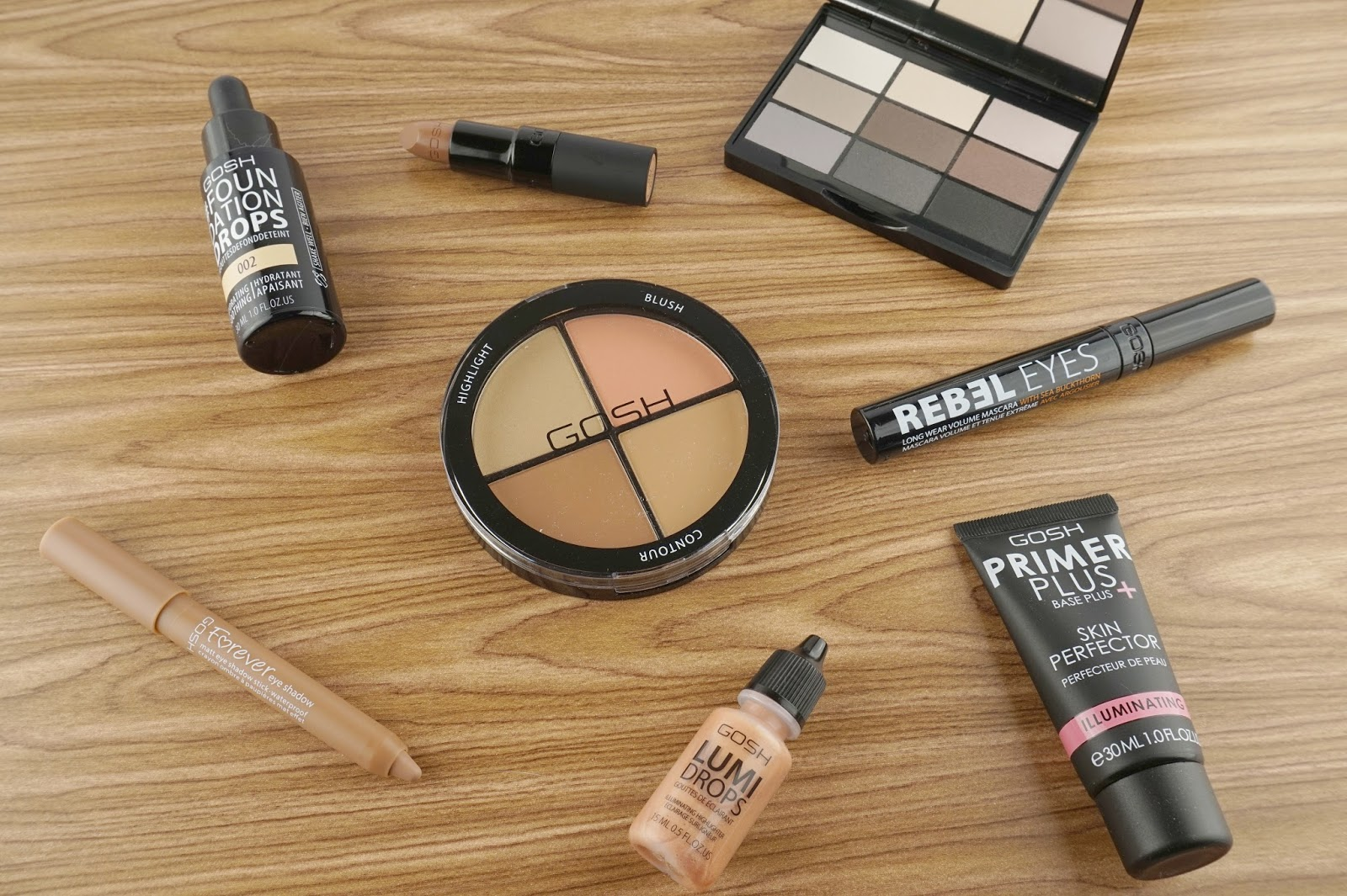 GOSH Cosmetics core products review look