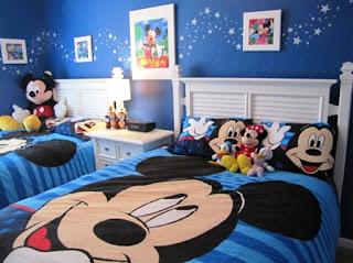 Gambar Desain Kamar Tidur Anak Mickey Mouse