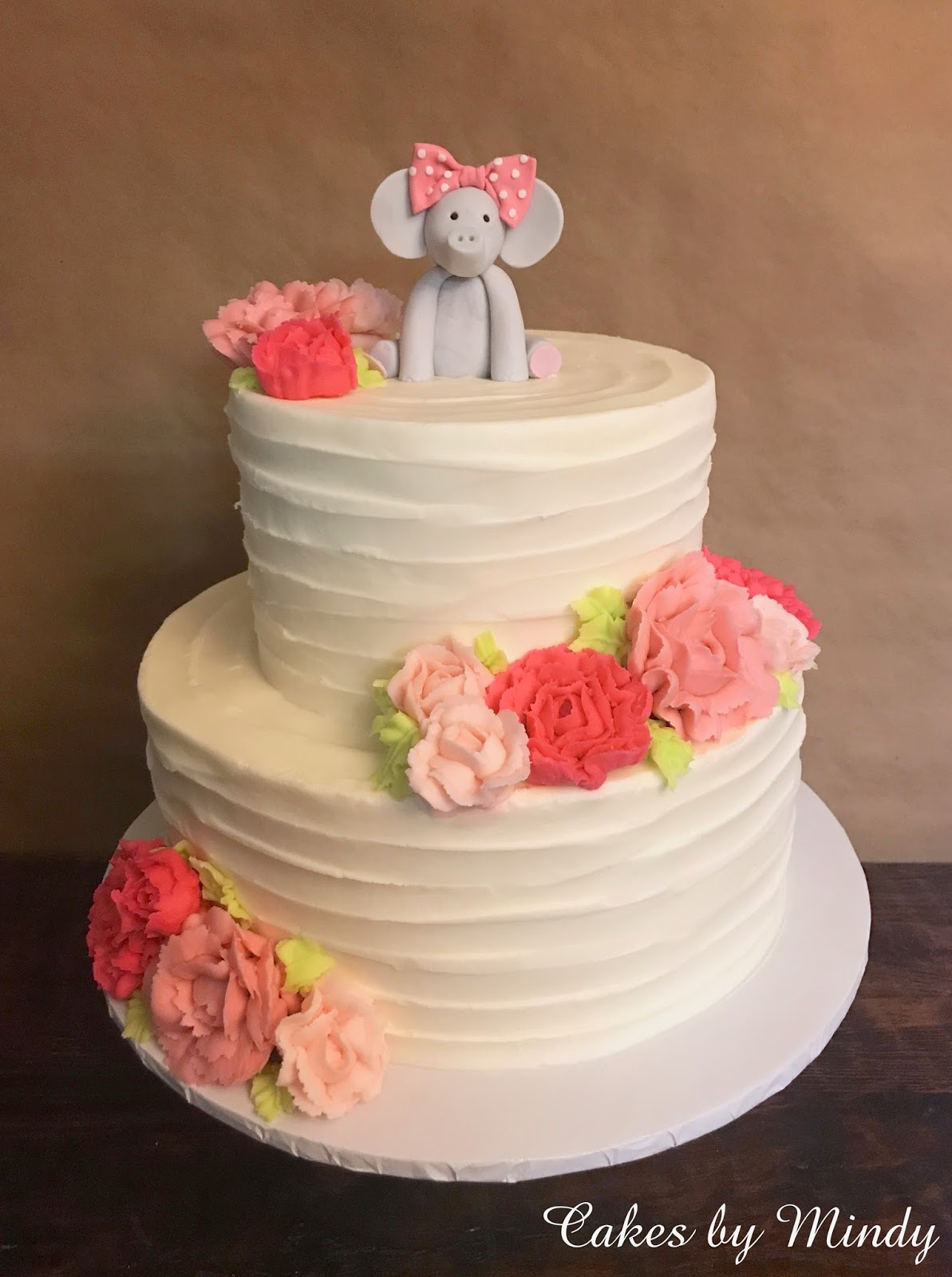 Cakes By Mindy Buttercream Flowers Baby Shower Cake 8 12