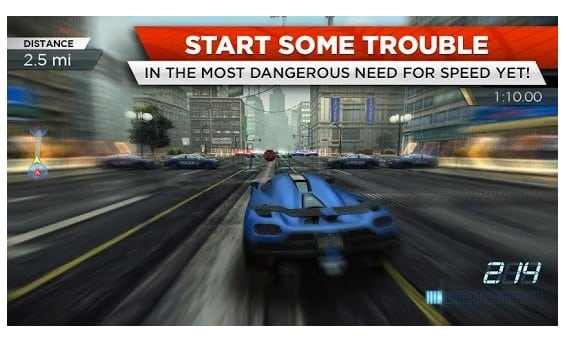 #4 Need for Speed Most Wanted