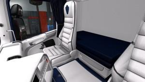 White Blue Interior for Scania RJL
