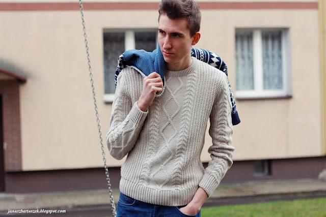 zimy męski sweter