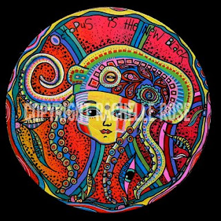 Painted from my dreams - a girl wearing a psychedelic octopus