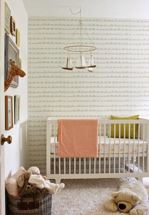 Habitaciones de beb con papel pintado dormitorios colores y estilos - Papel pintado dormitorio principal ...