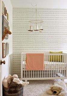 dormitorio bebé papel pintado