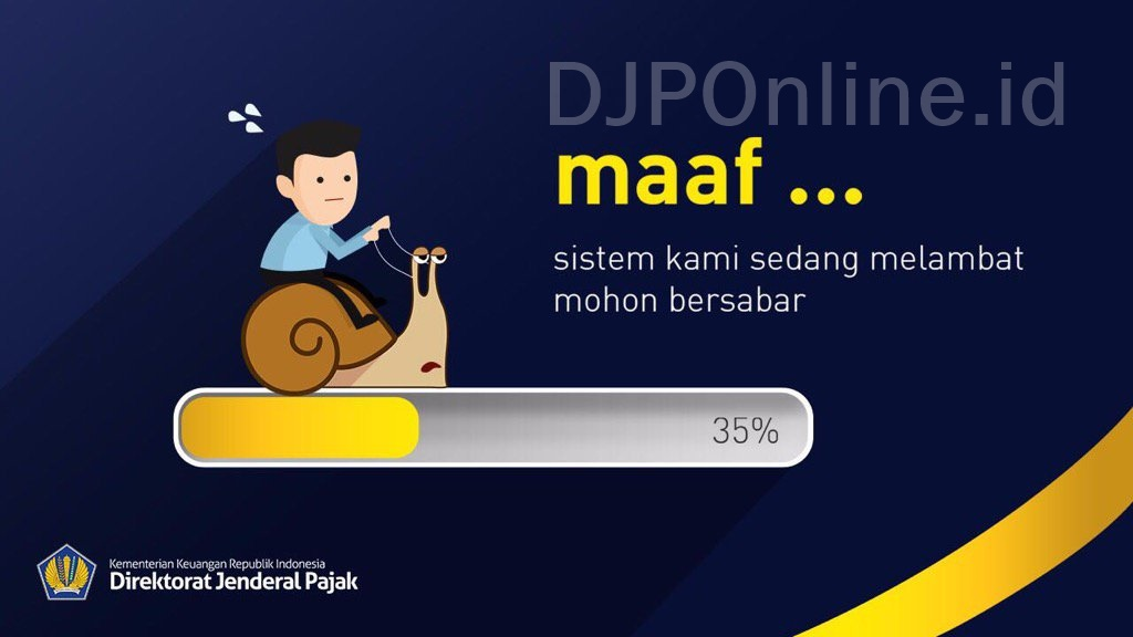 DJP Online Error 500 - DJP Online Sedang Maintenance