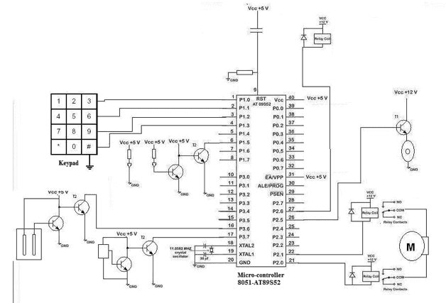 Circuit diagram Home Security System by Motion Using Sensor
