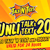 Unli Call & Text Promo For 1 Day: T20 Promo