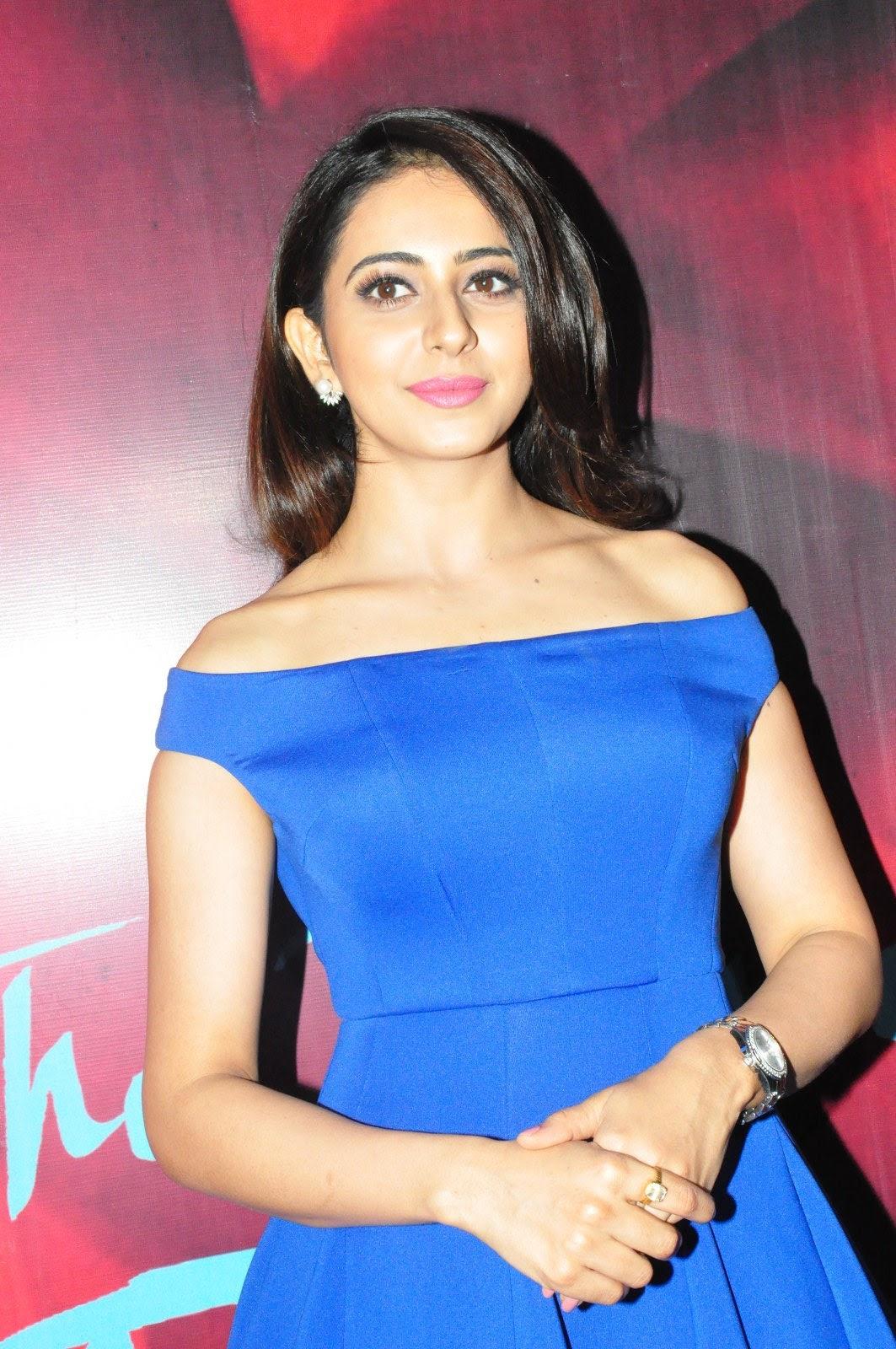 Rakul Preet Singh New Stills In Blue Dress