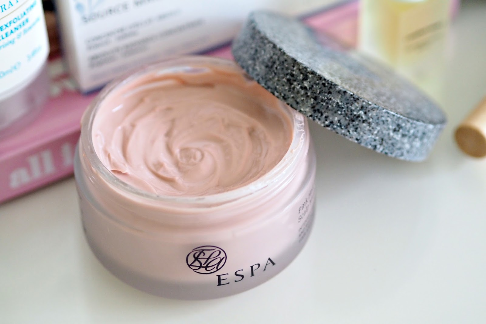 espa pink hair and scalp mask
