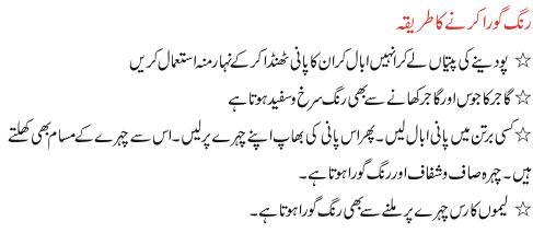 White Skin Tips in Urdu | Rang Gora krne ka tareeka