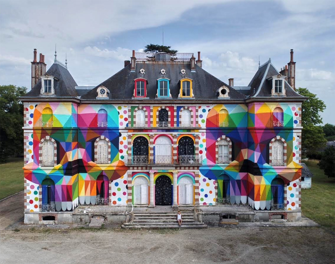 OKUDA SAN MIGUEL *skull mirror* castle | LaBel Valette - Festival of street culture