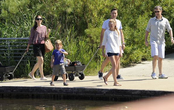 More Photos Of Danish Crown Prince Family At Grasten Palace
