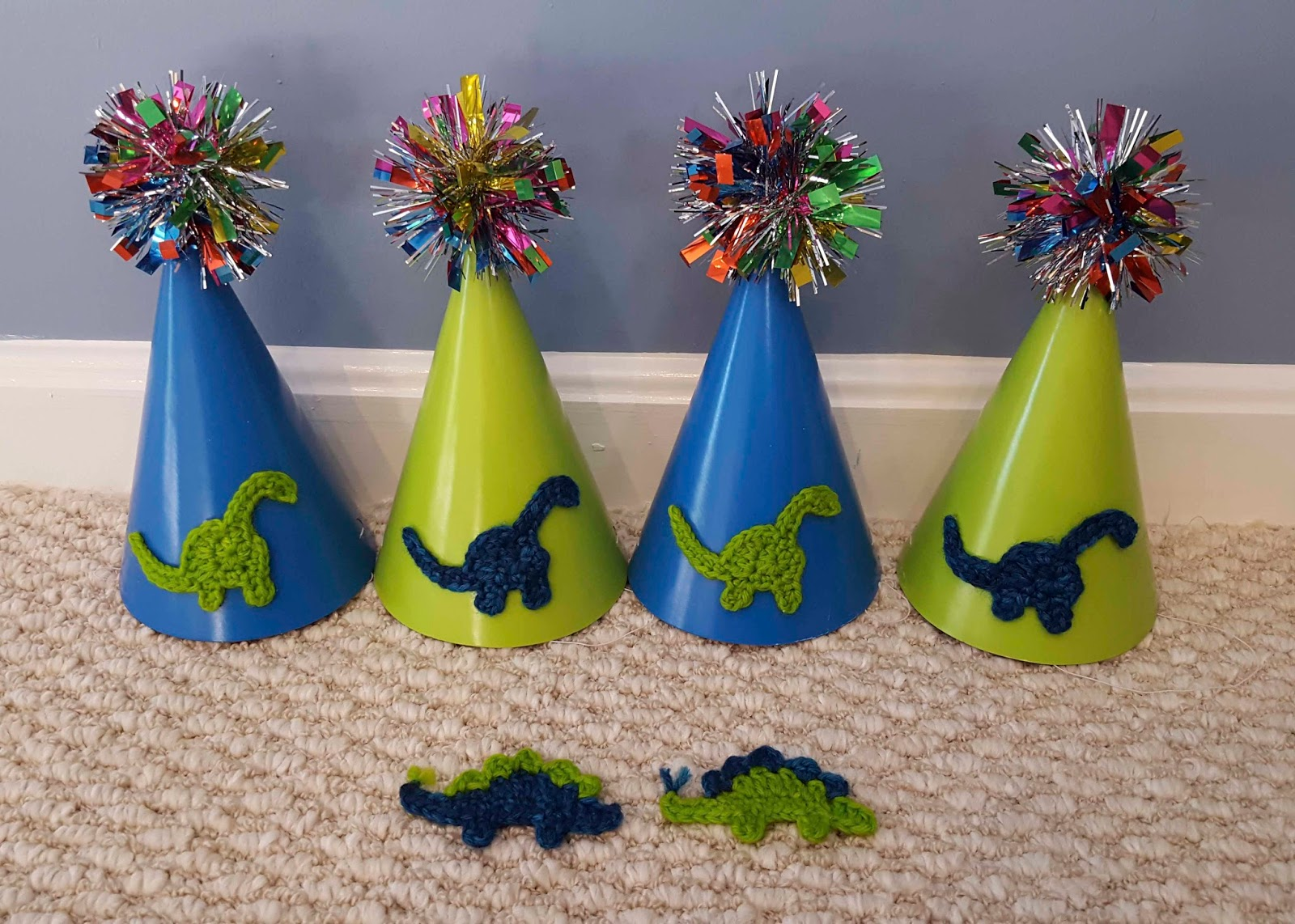 dinosaur party hats diy crafting