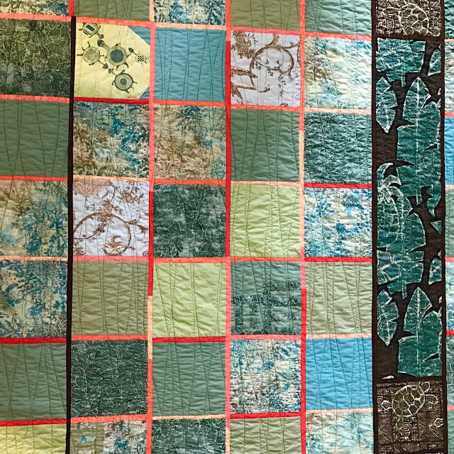 "Detail of ""Turtle Quilt"" by  Lucinda Walker"