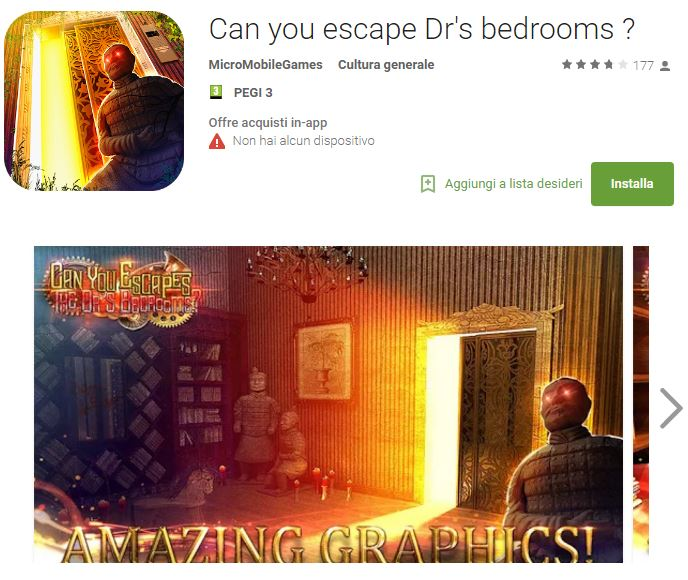 Can you escape Dr's bedrooms ?