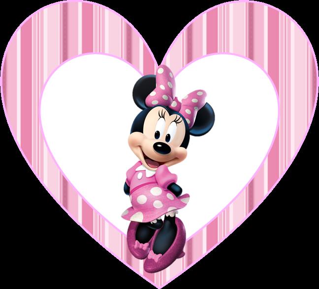 Toppers o Etiquetas de  Minnie Rosa  para imprimir gratis.