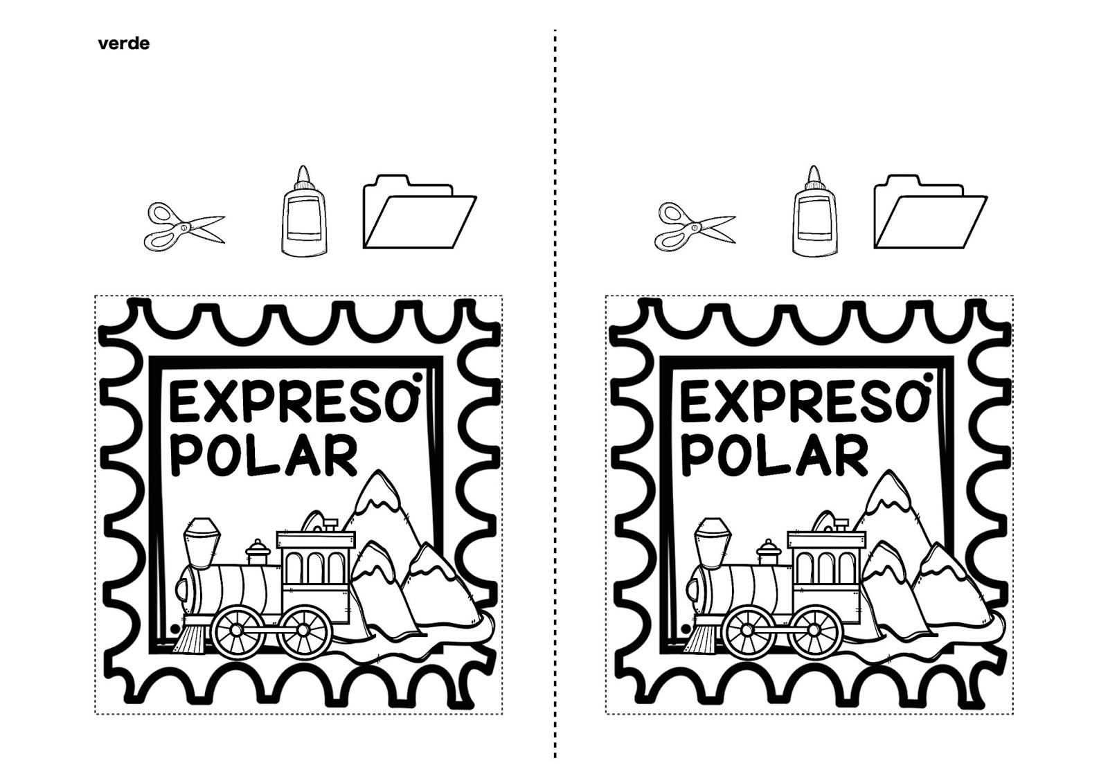 Bonito Tren Expreso Polar Para Colorear Colección de Imágenes ...