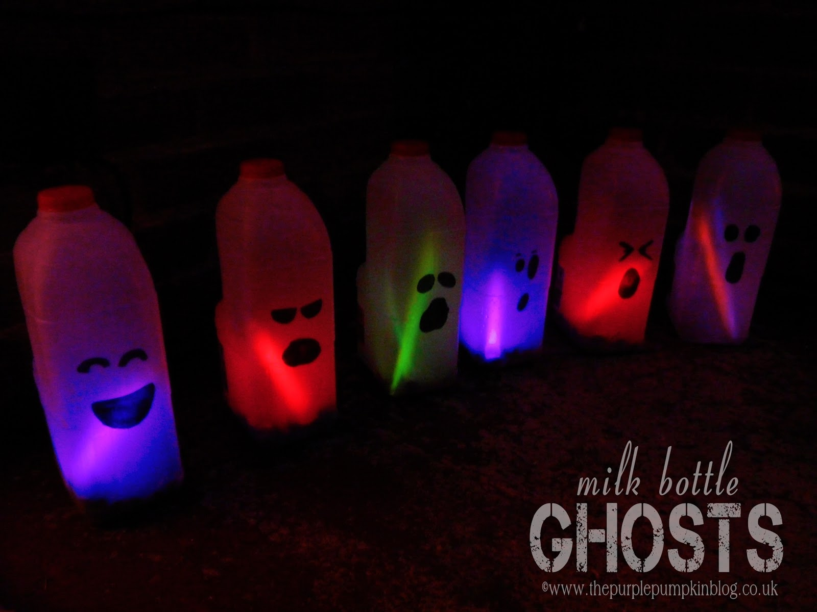 milk bottle ghosts the purple pumpkin blog - Milk Carton Halloween Ghosts
