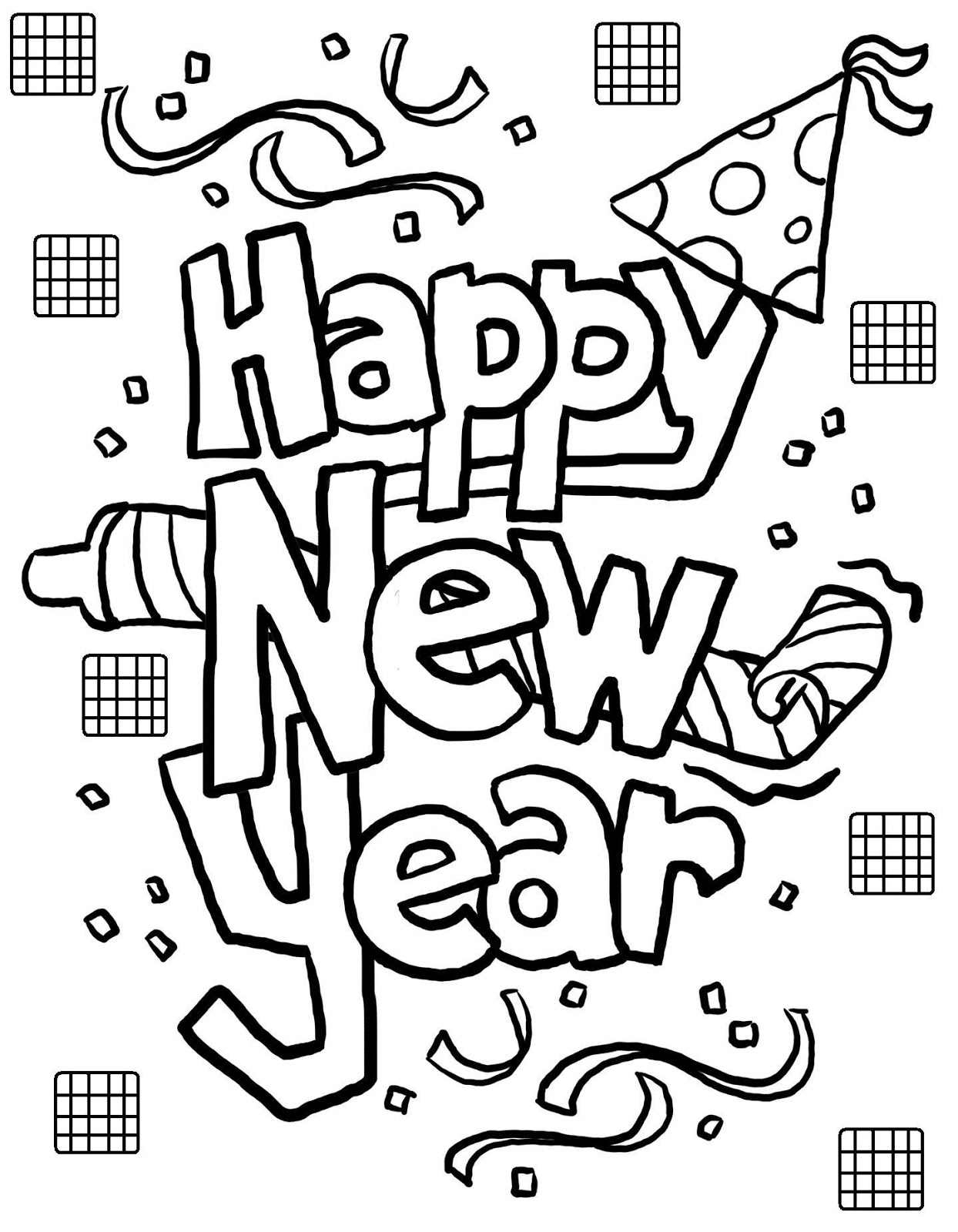 New Year Greeting Cards For Kids