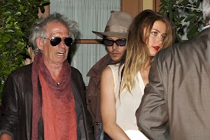 Johnny Depp and Amber Heard at the dinner in Hollywood