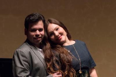 Luis Gomes & Ekaterina Siurina in rehearsal - Rosenblatt Recitals - photo Jonathan Rose