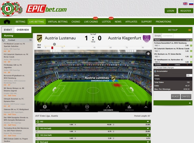 EpicBet Screen