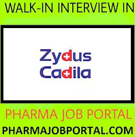 Zydus Biologics Walk In Interview For Freshers & Experienced - Multiple Positions at 04 November