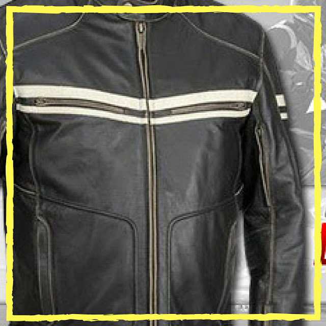 Wearing motorcycle jacket for safety as well as for comfort and fashion