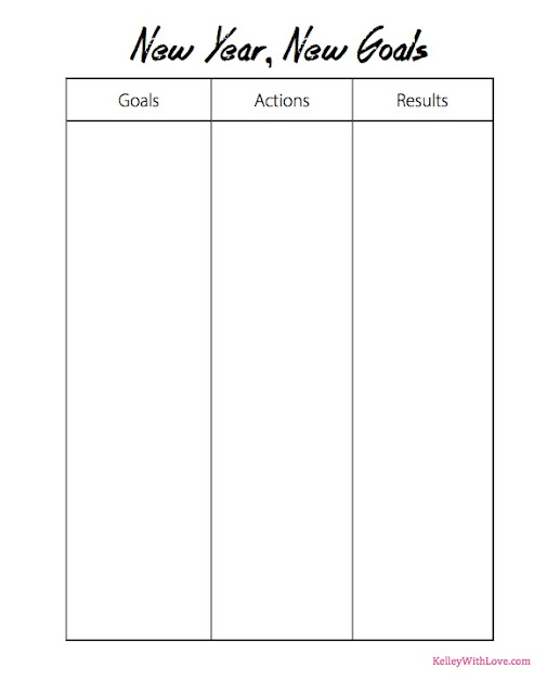Kelley With Love New Year Goals Printable Worksheets
