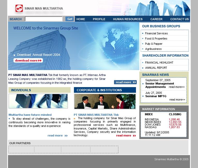 Website template 1 2005   Meiling blog