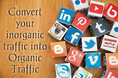 Convert your inorganic traffic into Organic Traffic