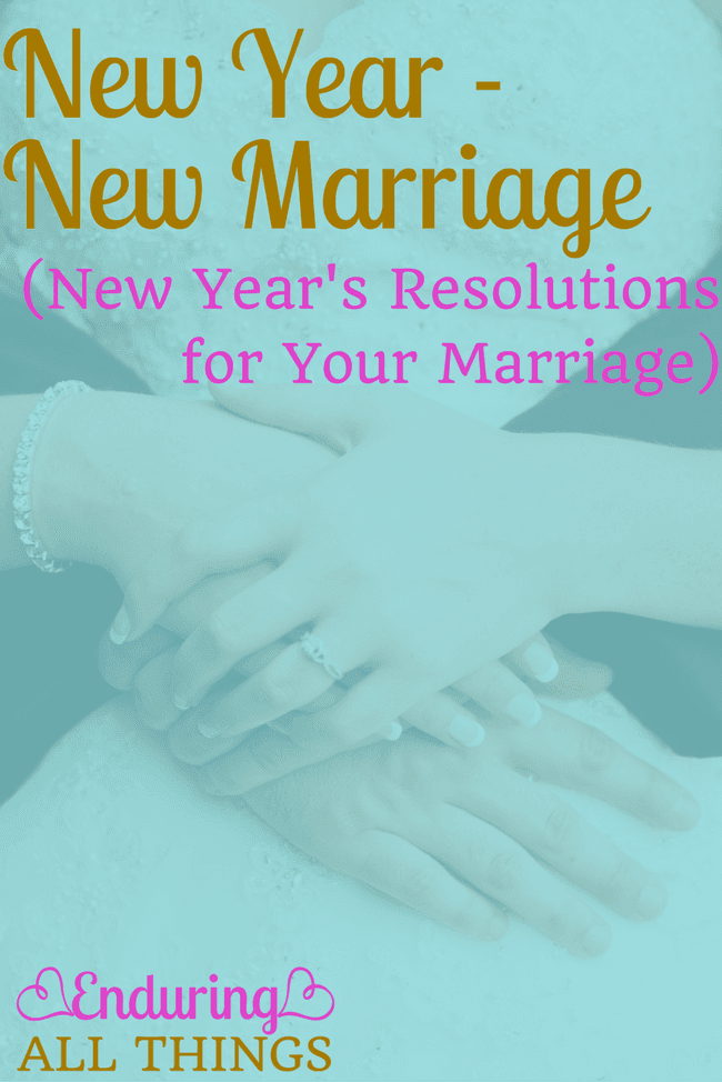 20 New Year's resolutions to choose from to make this year the best yet for your marriage. And there's a printable freebie!!