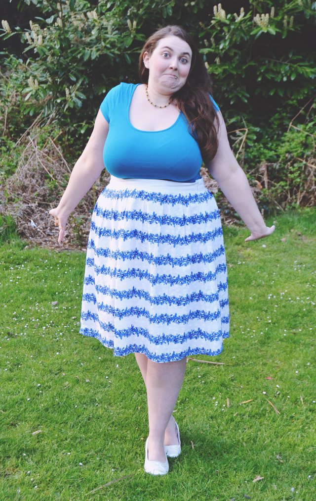 Plus size blogger outtake