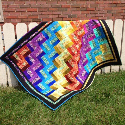 Glass Rail Fence Quilt Free Pattern