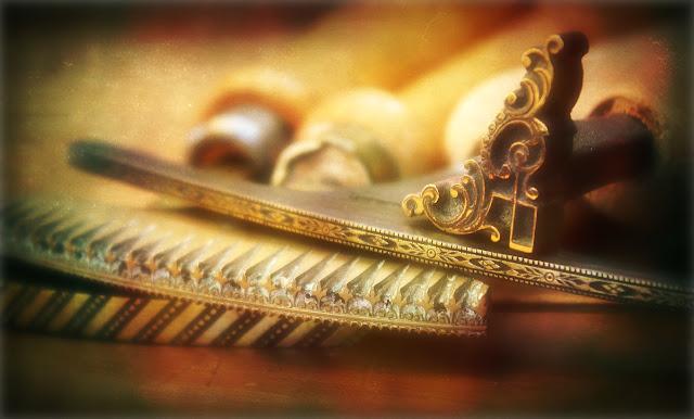 Vintage gilt tools