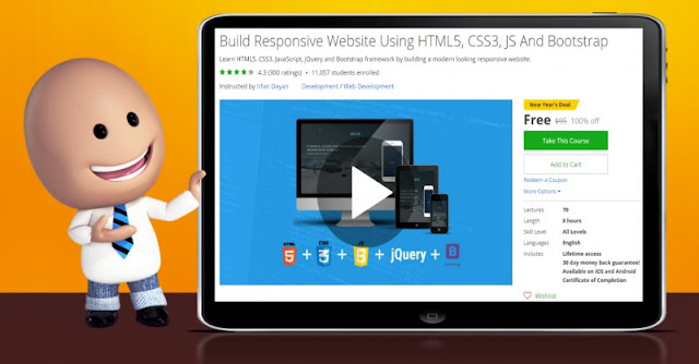 [100% Off] Build Responsive Website Using HTML5, CSS3, JS And Bootstrap| Worth 95$