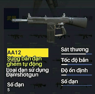 khẩu súng trong AA12 Rules of Survival