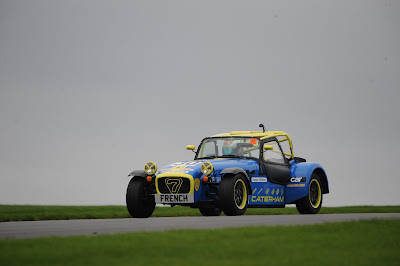 me (Daniel French) driving my 2018 Caterham Roadsport at Donington Park