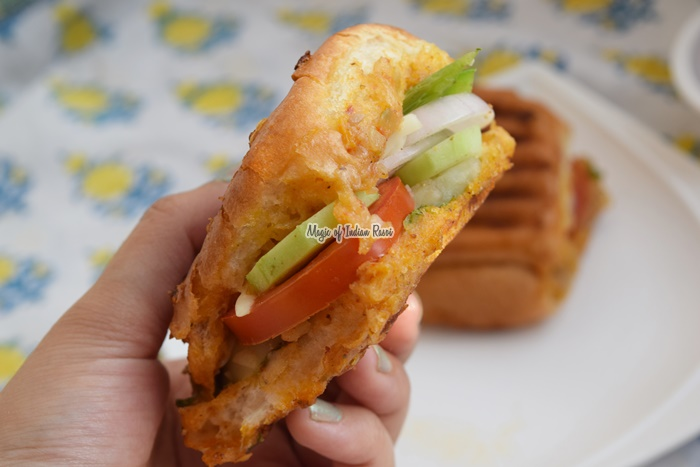 Leftover Pav Bhaji Sandwich - 2 Ways - Magic of Indian Rasoi -Priya R