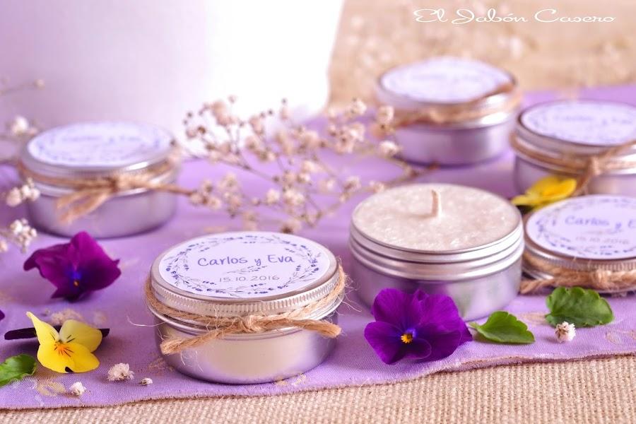 Detalles para bodas velas aromaticas de lavanda