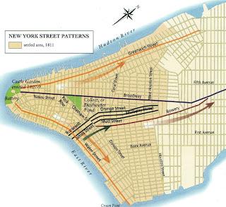 planejamento das ruas de NY em 1811