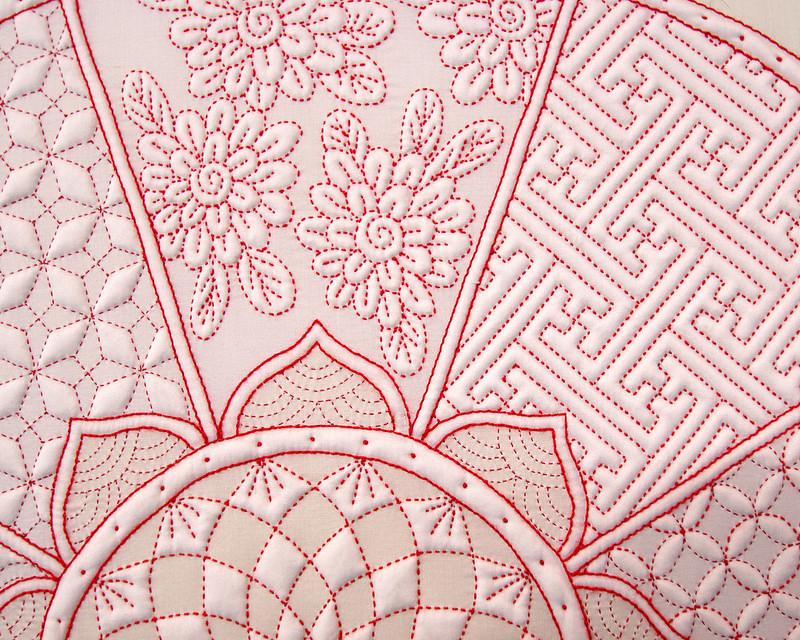 Kutani by  鈴木貞子*Sadako Suzuki | Tokyo Quilt Festival 2018 | © Red Pepper Quilts 2018
