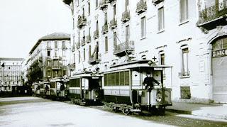 ospedale sant'ambrogio tram ambulanza prima guerra WWI
