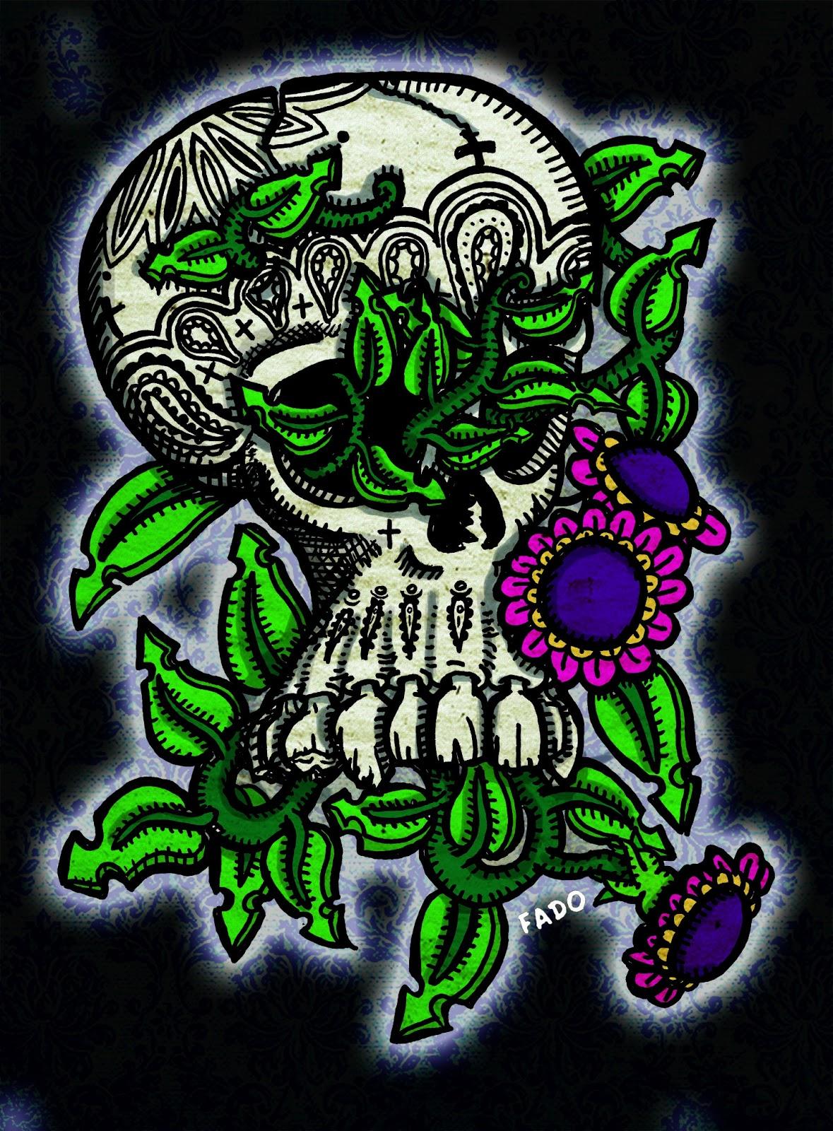 Imagenes De Calaveras Con Marihuana