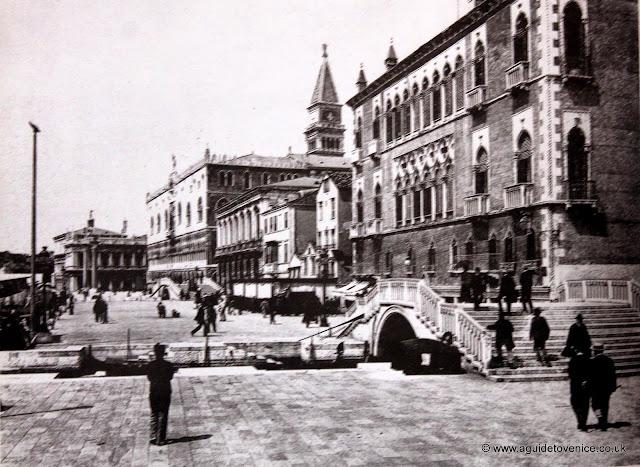 19th century photograph of the Riva degli Schiavoni, Venice
