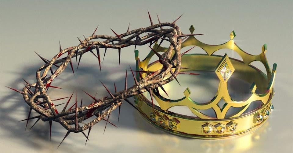 Coroa de espinhos e coroa de ouro